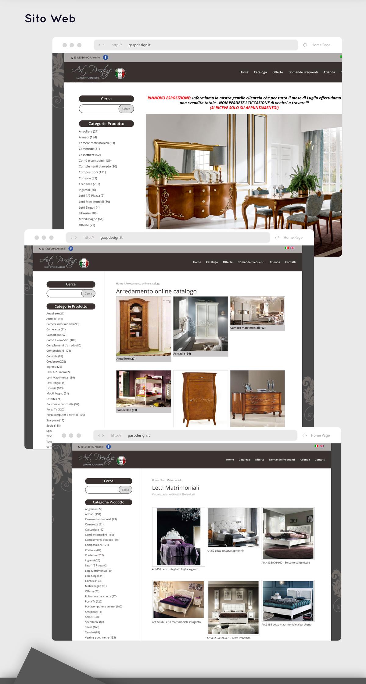 Sito vendita arredamento online consulente di web for Sito arredamento design